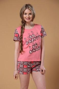 Комплект домашний из хлопка: шорты и футболка FIORITA