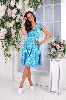 Ярко-голубое платье Angela Ricci со скидкой