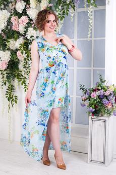 Длинное голубое платье Angela Ricci со скидкой