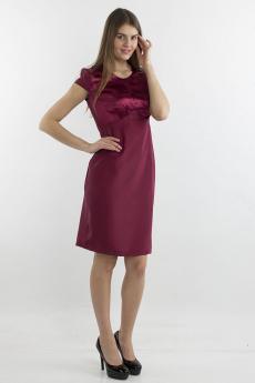 Атласное платье цвета марсала Bast